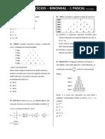 lista - número binomial-triângulo de Pascal.pdf