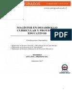 Magister en Desarrollo Curricular y Proyectos Educativos