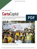 A agenda do ódio  CartaCapital Dilma manifestações