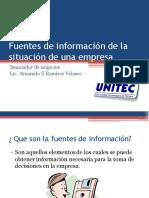 Fuentes de información de la situación de una copia