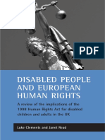 CLEMENTS, Luke J; REA. Disabled People and European Human Rights a Review of the Implications of the 1998 Human Rights Act for Disabled Children and Adults in the Uk