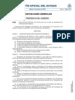 RD 419-2018, De 18 de Junio, Por El Que Se Reestructura La Presidencia Del Gobierno