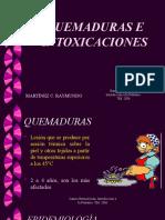QUEMADURAS E INTOXICACIONES