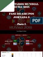 Luis Miguel Urbina - Resultados Mundial Rusia 2018, Fase de Grupos, Jornada 3, Parte I