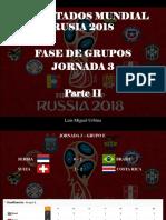 Luis Miguel Urbina - Resultados Mundial Rusia 2018, Fase de Grupos, Jornada 3, Parte II