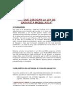 DERECHO CIVIL X (GARANTÍAS)  - Derogar la garantía mobiliaria. GGB(1)