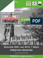 Concert 28th July Ayrs Paris Band and Preston Concert Band