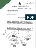 Nota de la Corte Suprema a Marcos Peña