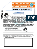 Ficha de Cultura Nazca Para Segundo de Primaria