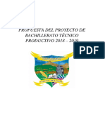 Propuesta Del Btp 2018