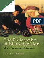 Proust - PhilosophyMetacognition