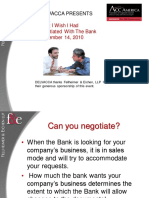 What I Wish I Had Negotiated With the Bank - Negotiating Bank Docs