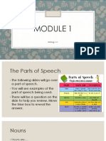 module 1 presentation