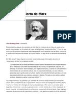 Bellamy Foster, John. La Crítica Abierta de Karl Marx