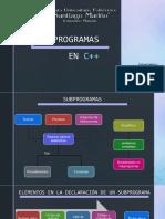 SUBPROGRAMAS EN C++