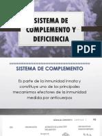 Sistema de Complemento y Deficiencia