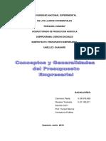 Modulo i Presupuesto Empresarial