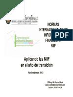 Aplicando Niif en Año de Transicion