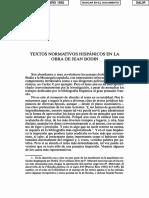 Textos normativos hispánicos en la obra de Jean Bodin by Bermejo Cabrero