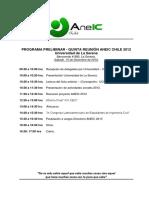 Programa Preliminar- Quinta Reunión Aneic 2012