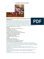 Variedades Del Castellano en El Perú