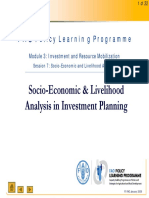 Socio-Economic and Livelihood Analysis in Investment Planning
