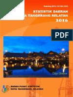 Statistik Daerah Kota Tangerang Selatan 2016