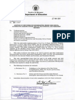 DepEd Memorandum No. 58 S. 2017 Adoption of New Forms for Kindergarten Senior High School Alternative Learning System Health and Nutrition and Permanent Records