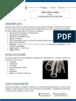 Ficha Tecnica Del Tubo Acrilico Cristal Clave 0190 0030 0050 Al 0190 0030 0600