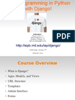 Web Programming in Python With Django
