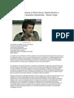 En Homenaje Póstumo a Óscar Arcos, Daniel Garzón y Lizaida Ruiz, Mis Queridos Estudiantes - Renán Vega Cantos