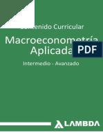 Syllabus Macroeconometría 2018 II