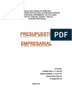 Presupuesto Empresarial Modulo I Trabajo 06-2018