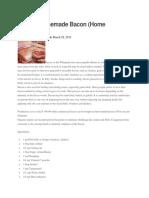 Making Homemade Bacon