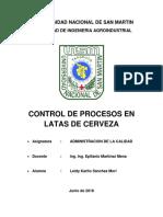 Control Proceso Cerveza