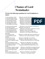 108 Names of Lord Nrsimhadev