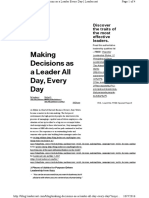 Making Decisions as a Leader Al