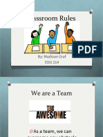 assignment 6 classroom rules