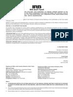 IRB Addendum Notice