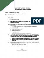 Autoría y Participación en La Imprudencia Medico-sanitaria