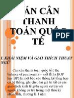 CÁN CÂN THANH TOÁN QUỐC TẾ -Tài Chính Quốc Tế