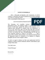 Notice of Dismissal