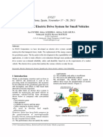 Development of Electric Drive System for Small Vehicles