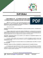 Inf- Acuerdo Recuperación Condiciones Laborales 21-6-18