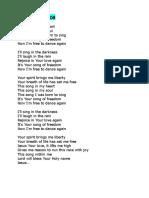SFC list of familiar songs
