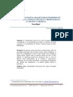 Revisión de Los Postulados de Emilio Durkheim