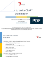 How to Write Cbap Examinations