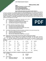 AFCAT Model Question Paper-III