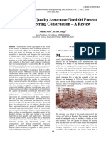 Infrastructure Quality Assurance Need of Present Civil Engineering Construction – a Review