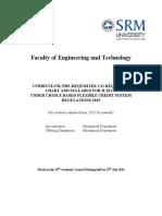 Btech Mech Curriculum Syllabus 2017